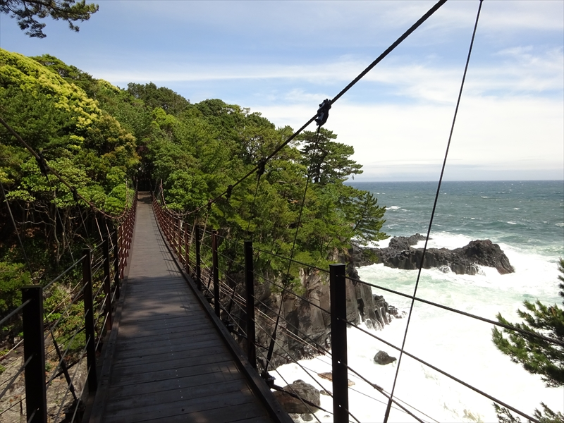 対島の滝・橋立つり橋