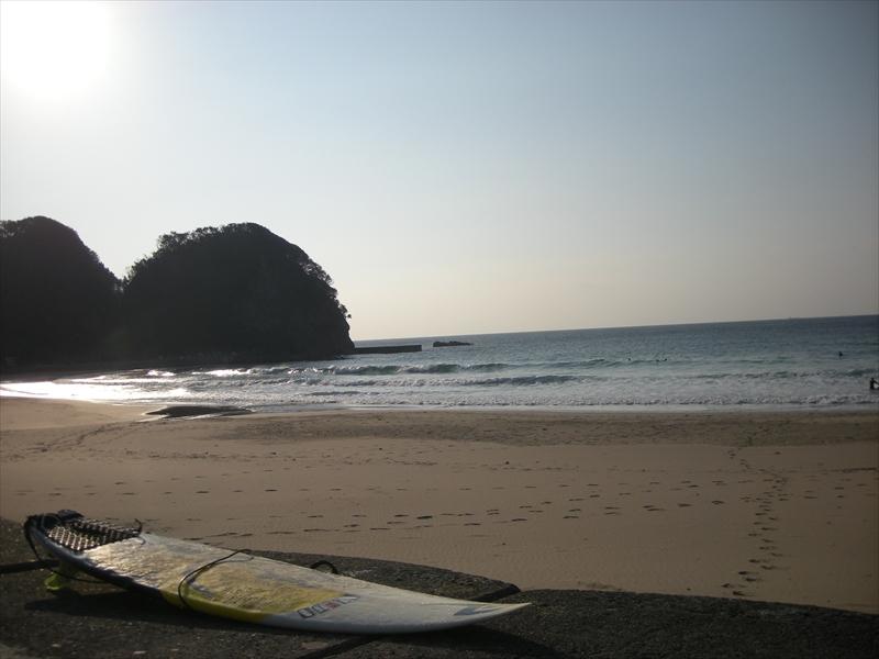 朝一サーフィン