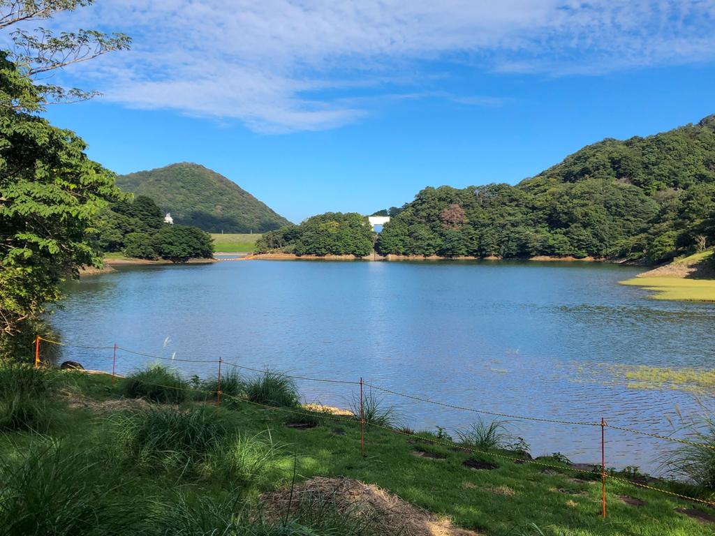 秋の松川湖畔